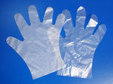 Одноразовый защитный прозрачный PE перчатки