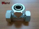 Encaixe de câmara de ar de bronze da compressão para a tubulação de Pex do Al de Pex
