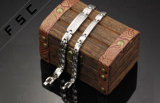 De goedkope Armbanden van het Paar van het Titanium van de Link van de Ketting van het Bergkristal