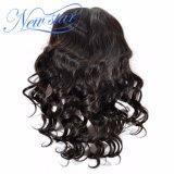 Парики человеческих волос девственницы парика шнурка волны полного парика шнурка свободные