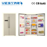 миниый холодильник 166L с утопленной ручкой и белым холодильником цвета