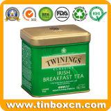 Caddy чая металла банки олова прямоугольника для ирландского чая завтрака