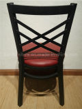 Чернота стул мебели трактира трактира металла места «x» винила задний