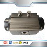 Резьбы алюминиевых пневматический привод 3PC шаровой клапан