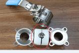 3 piezas de acero inoxidable de válvula de bola sanitarias