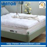 Edredones de pluma de tejido de bambú colchón protector de colchón de espuma