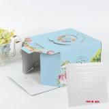 Comercio al por mayor baratos de buena calidad de diseño personalizado de calidad alimentaria elegante caja de tarta de panadería y manejar la ventana