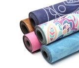 Anti-Slip изготовленный на заказ полное изготовление циновки йоги Microfiber печатание