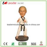 L'OEM di Polyresin Bobble Putin con Taekwondo Bobblehead per il regalo promozionale, fa il vostri propri Bobble la testa