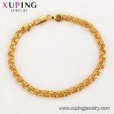 75272명의 Xuping 형식 보석 여자 팔찌, 우아한 팔찌, 24K 금 색깔에 의하여 도금되는 팔찌