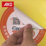 BPA libèrent l'étiquette auto-adhésive de collant de partie ronde portative neuve de modèle de prix bas