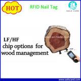 Preço do Fabricante da etiqueta de unhas de RFID para gerenciamento de árvore de madeira