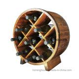Rek van de Fles van de Wijn van het Tafelblad van de Opslag van de Vorm van het vat het Uitstekende Houten