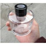 Bouteille transparente ronde personnalisée de verrerie de vase tubulaire en verre de diffuseur