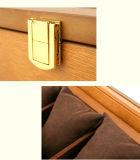 5 ranuras Caja de reloj de madera de estilo europeo, la moda retro Ver Cajas de almacenamiento