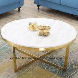 황금 프레임 대리석 스테인리스 테이블