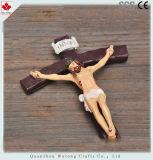 Artesanías en resina figura religiosa decoración Estatua de la cruz Jesús