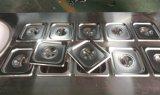 باردة حجارة مقليّ [إيس كرم] آلة مع 6 ثمرة صينيّة
