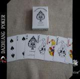 Cartão de jogo personalizado do estilo do coração largura preta e vermelha