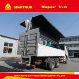 Einfache Laden-/aus dem Programm nehmen Waren Hydraulic Wing Van Truck für Verkauf