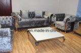 Portée italienne moderne du sofa 2 de patte d'acier inoxydable de réception d'hôtel de meubles de salle de séjour