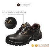 Homens de aço injetados plutônio do Insole do dedo do pé que trabalham sapatas de segurança