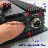 6本のアンテナVHF、UHFの携帯電話の妨害機(3G、GSM、CDMA、DCS)