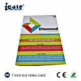 Produtos novos cartão video do Livreto-Vídeo do LCD de 7 polegadas para a promoção do negócio
