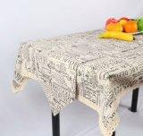 環境に優しい100%年のポリエステル防水カスタム現代簡単なテーブルクロス