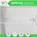 Weißes elastisches Matratze-Deckelencasement-Reißverschluss-Schliessen-Bett Terry-Towelling einzeln