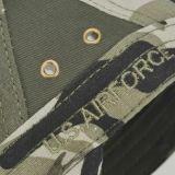 Tapa personalizada de la moda de alta calidad militar de camuflaje Cap sombrero con bordado plano