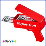 Ihn regnen lassen Dollar-Supergeld-Bargeld-Spray-Spielzeug-Gewehr