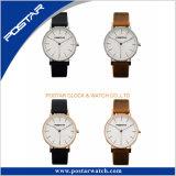 Relógio unisex de quartzo das mãos de Japão três do projeto da classe