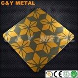 Hoja de acero inoxidable de alta gama con colores y el doble de Sand-Blast