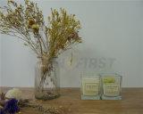 Candela di vetro di massaggio della tazza del vaso bianco di vetro della candela dell'aroma del contrassegno privato
