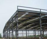 Disegni industriali prefabbricati personalizzati della struttura d'acciaio della tettoia per il Godown