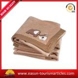 L'alta qualità Immaginazione-Tesse la coperta del Knit del cotone, migliore coperta di linea aerea di prezzi