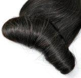 ブラジルの極度の二重引出されたバージンの人間の毛髪のよこ糸(弾力がある)