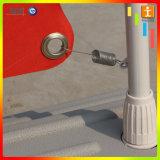 Fáciles de plata de aluminio ruedan para arriba el soporte de visualización de la bandera del presupuesto (TJ-0010)
