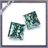 moissanite del quadrato di colore verde di 4*4mm della principessa Cut per monili