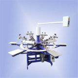 6 stampatrice semi automatica dello schermo di alta precisione della stazione di colore 6 per le magliette