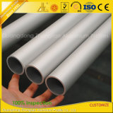 Tube rond d'extrusion en aluminium de Matt anodisé par usine en aluminium