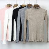 여자 겨울 스웨터 숙녀를 위한 High-Necked 니트 스웨터 디자인