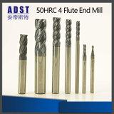 торцевая фреза каннелюры карбида вольфрама 50HRC 4 плоская для механических инструментов CNC
