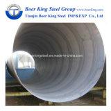 最上質ASTM A252の等級3抗打ち工事によって溶接されるSSAWの螺線形鋼管