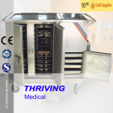 Stainless Steel Hospital Medical Electric Heating Food Trolley (THR-FC001)