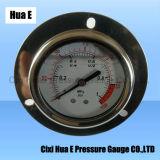 Connexion arrière 2.5inches avec bride remplis d'huile manomètre de pression en acier inoxydable