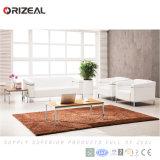Sofà moderno dell'ufficio del cuoio bianco di Orizeal impostato (OZ-OSF003)