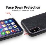 علاوة جلد يساعد هجين [تبو] نحيلة ليّنة ترتيب [موبيل فون] تغطية واقية حالة لأنّ [أبّل] [إيفونإكس]
