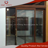 Surface Finished Wood Grain Aluminum Profile Double Knell Sliding Door